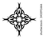 tattoo. pattern. design.... | Shutterstock .eps vector #343391666