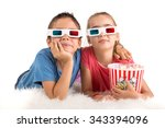 children's couple with 3d...   Shutterstock . vector #343394096
