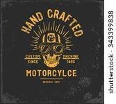 vintage motorbike race   hand...   Shutterstock .eps vector #343399838