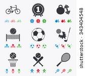 sport games  fitness icons.... | Shutterstock .eps vector #343404548