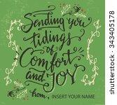 sending you tidings of comfort... | Shutterstock .eps vector #343405178