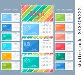 wall calendar 2016 years .... | Shutterstock .eps vector #343409222