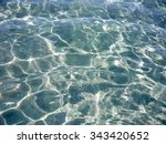 reflections in blue water.... | Shutterstock . vector #343420652