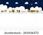 winter town | Shutterstock .eps vector #343436372