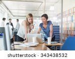 assistant and partner coffee... | Shutterstock . vector #343438532