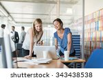 assistant and partner coffee... | Shutterstock . vector #343438538