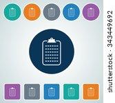 icon of clip board in multi...   Shutterstock .eps vector #343449692