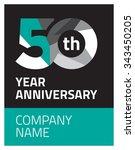 50 years anniversary black...   Shutterstock .eps vector #343450205