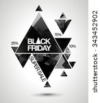 black friday sale background... | Shutterstock .eps vector #343452902