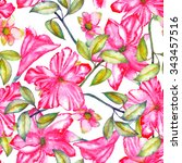 seamless pattern with the... | Shutterstock . vector #343457516