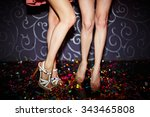 close up of two female legs... | Shutterstock . vector #343465808