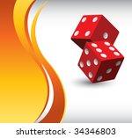 red dice on orange wave...   Shutterstock .eps vector #34346803