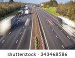 Speeding Traffic On An English...