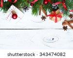 christmas baking concept   ... | Shutterstock . vector #343474082