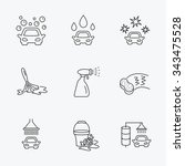car wash icons. automatic... | Shutterstock .eps vector #343475528