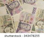 1000 and 2000 czech koruna czk  ... | Shutterstock . vector #343478255