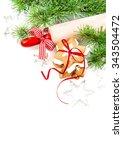 gingerbread cookies. christmas... | Shutterstock . vector #343504472