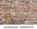 vintage australian brick wall  | Shutterstock . vector #343507655