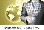 business man using smart phone... | Shutterstock . vector #343514792