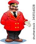 hotel staff   doorman | Shutterstock .eps vector #343516028