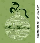 merry christmas and other... | Shutterstock .eps vector #34352539
