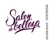 logo beauty salon lettering.... | Shutterstock .eps vector #343536566