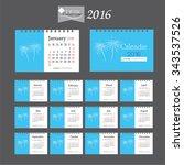 2016 calendar.desk calendar...   Shutterstock .eps vector #343537526