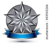 3d vector classic royal symbol  ... | Shutterstock .eps vector #343542266