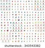 logo huge mega collection ... | Shutterstock .eps vector #343543382