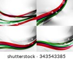 set of abstract backgrounds.... | Shutterstock .eps vector #343543385
