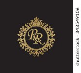 rr initial luxury ornament...