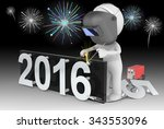 fireworks and happy new year.... | Shutterstock . vector #343553096