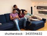 shot of a friends watching...   Shutterstock . vector #343554632