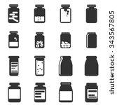 Medicine Icon Bottles  Vector...