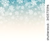 blue background with snowflakes.... | Shutterstock . vector #343575596