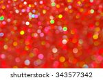 red and orange holiday bokeh.... | Shutterstock . vector #343577342