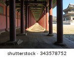the korean traditional building ... | Shutterstock . vector #343578752