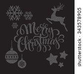 christmas dots elements.... | Shutterstock . vector #343578905