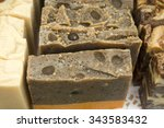 handmade soap on the market | Shutterstock . vector #343583432
