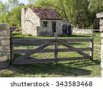small cottage in pirogovo... | Shutterstock . vector #343583468