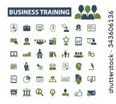 business training  icons  signs ... | Shutterstock .eps vector #343606136