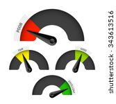 poor  fair  good and excellent... | Shutterstock .eps vector #343613516