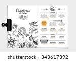 vector restaurant brochure ... | Shutterstock .eps vector #343617392