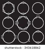 vintage celtic round frames... | Shutterstock .eps vector #343618862