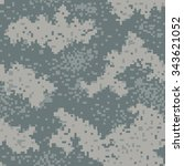 military camouflage textile... | Shutterstock .eps vector #343621052