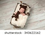 two week old newborn baby boy... | Shutterstock . vector #343622162