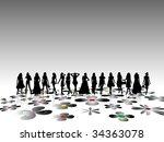 fashion girls | Shutterstock .eps vector #34363078