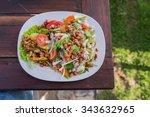 vermicelli salad | Shutterstock . vector #343632965