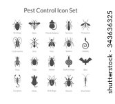 vector black and white icons of ... | Shutterstock .eps vector #343636325