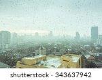 Bangkok Cityscape With Rain
